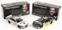 Lot of (2) LE Platinum Series #14 Tony Stewart 2014 Chevrolet SS 1:24 Scale Die Cast Cars with (1) Mobil 1 2014 SS Raw & (1) Code 3 Associates 2014 SS Liquid Color