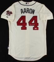 Hank Aaron Signed Majestic Cool Base Braves Jersey (JSA Hologram)