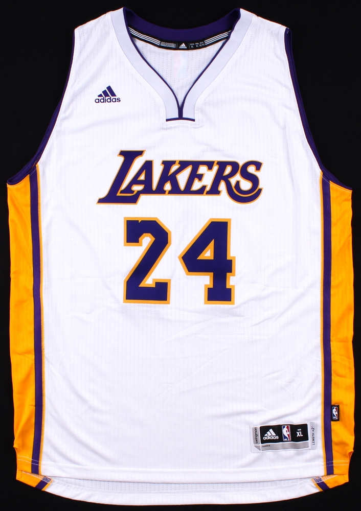 d335bd86881 Kobe Bryant Signed Lakers Adidas Authentic Swingman Jersey (Panini COA) at  PristineAuction.com