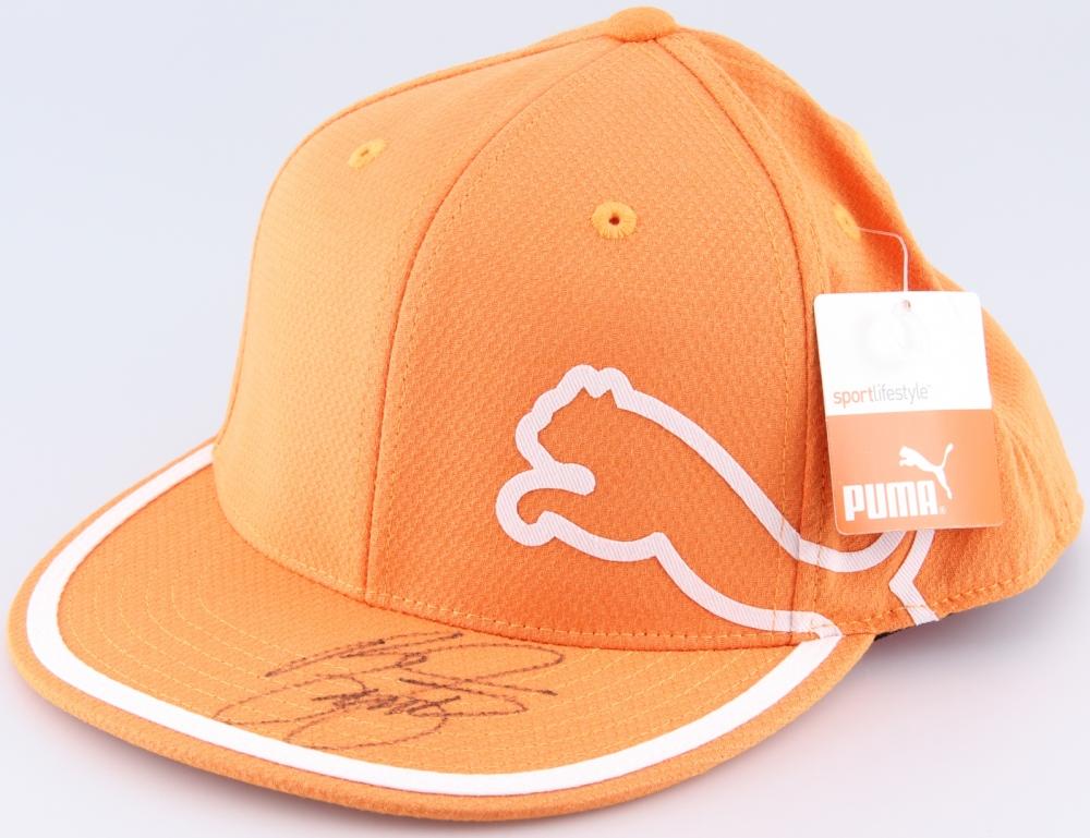 afcfed2cacf discount rickie fowler orange puma flatbill hat cca98 471e6  amazon ricky  fowler signed puma hat jsa coa at pristineauction a5bc7 088b8