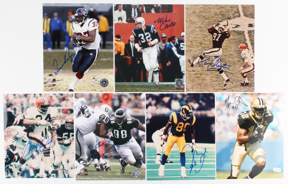 43b6467d4 Lot of (7) Football Stars Signed 8x10 Photos with Raymond Chester