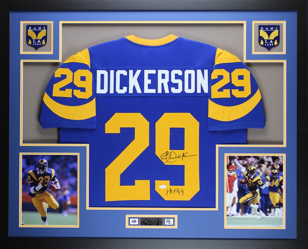 24592e247 Eric Dickerson Signed Rams 35