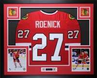 "Jeremy Roenick Signed 35"" x 43"" Custom Framed Jersey (JSA COA) at PristineAuction.com"