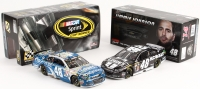 Lot of (2) Jimmie Johnson NASCAR 1:24 Die-Cast Scale Stock Cars with (1) #48 Lowes Pro-Services Dover Win 2015 SS & (1) #48 Liquid Color Kobalt Tools 2014 SS
