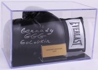 "Gennady Golovkin Signed Everlast Boxing Glove Inscribed ""GGG"" with Display Case (JSA COA)"