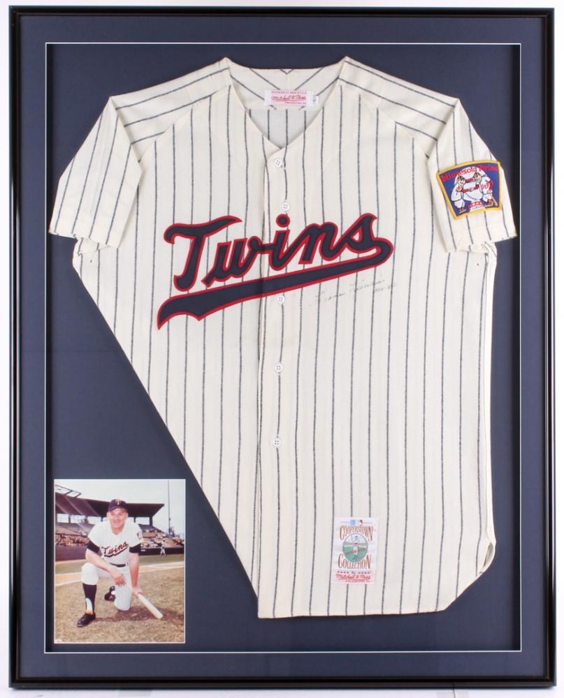 1019cdea3df Harmon Killebrew Signed Twins 32.5x40.5 Custom Framed Jersey Display  Inscribed