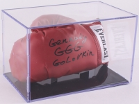 """Gennady Golovkin Signed Everlast Boxing Glove Inscribed """"GGG"""" with Display Case (JSA COA)"""