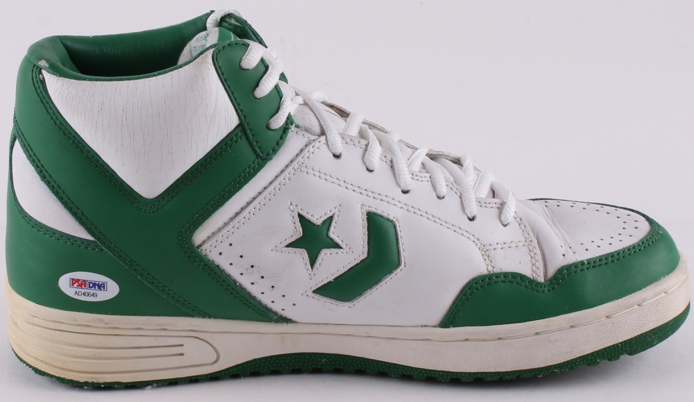 for whole family popular stores best place Larry Bird Signed Throwback Converse Shoes (PSA COA) | Pristine ...