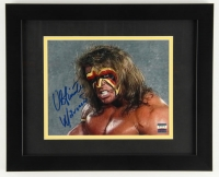 "The Ultimate Warrior Signed WWF ""Crash The Plane"" Classic Shoot Interview 13x16 Custom Framed Photo (Project Warrior Hologram)"
