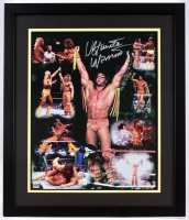 "Ultimate Warrior Signed ""WrestleMania VI vs. Hulk Hogan"" 22x26 Custom Framed Photo Display (Project Warrior Hologram)"