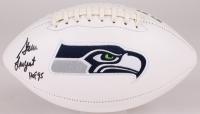 "Steve Largent Signed Seahawks Logo Football Inscribed ""HOF '95"" (JSA COA) at PristineAuction.com"