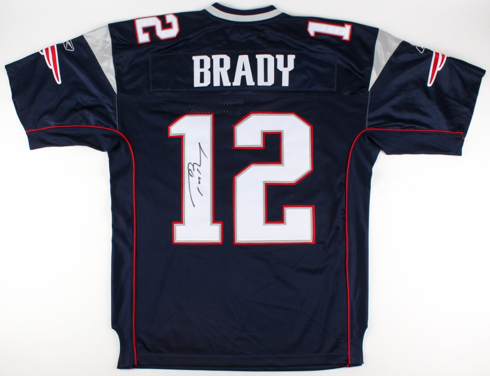 autographed jersey tom brady