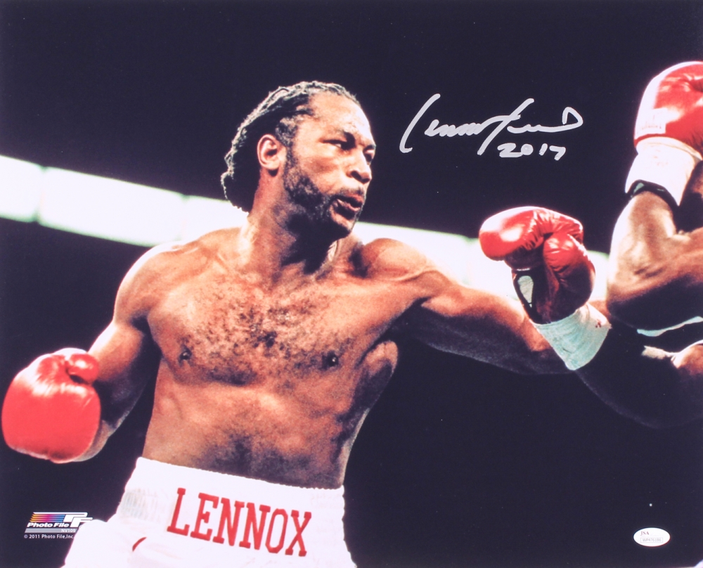 lennox lewis memorabilia. lennox lewis signed 16x20 photo inscribed \ memorabilia