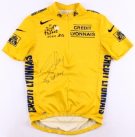 "Lance Armstrong Signed Nike 2005 Tour De France Cycling Jersey Inscribed ""7x TDF Champ"" (Schwartz COA)"