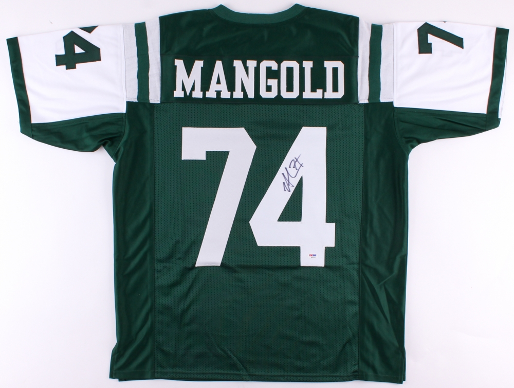 84fb5c7a2 Nick Mangold Signed Jets Jersey (PSA COA) at PristineAuction.com