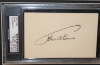Thomas Edison Signed 23x27 Custom Framed Index Card Display (PSA Encapsulated) at PristineAuction.com