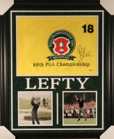 Phil Mickelson Signed 27x33 Custom Framed 2006 PGA Championship Flag Display (Beckett COA)