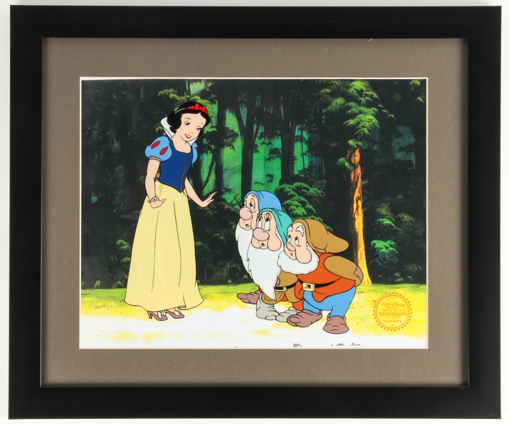 """Snow White"" LE 16x19 Custom Framed Animation Serigraph Cel at PristineAuction.com"