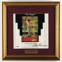 "LeRoy Neiman Signed ""Mike Schmidt"" Phillies 16.5x16.5 Custom Framed Print Display (PSA COA)"
