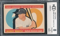 1960 Topps #563 Mickey Mantle AS (BCCG 8)