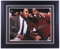 Muhammad Ali & Magic Johnson Signed 27.5x33.5 Custom Framed Photo (PSA LOA)