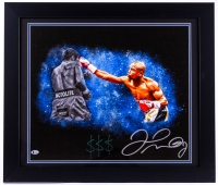 """Floyd Mayweather Jr. Signed 23.5x27.5 Custom Framed Photo on Canvas Inscribed """"$$$"""" (Beckett COA) at PristineAuction.com"""