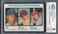 1973 Topps #615 Rookie Third Basemen Ron Cey / John Hilton RC / Mike Schmidt RC (BCCG 9)