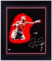 "Floyd Mayweather Jr. Signed 23.5x27.5 Custom Framed Photo on Canvas Inscribed ""TBE"" (Beckett COA)"