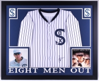 "John Cusack Signed ""Eight Men Out"" White Sox 35x43 Custom Framed Jersey Display (PSA COA)"