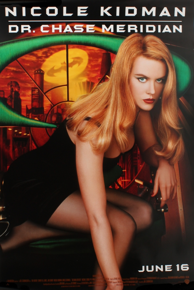 "Original 1995 Nicole Kidman ""Batman Forever"" 27x40 Movie Poster at PristineAuction.com"