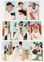 Lot of (23) 1964 Topps Giants Baseball Cards with #48 Carl Yastrzemski, #50 Brooks Robinson, #41 Bob Gibson, #29 Frank Robinson, #38 Harmon Killebrew
