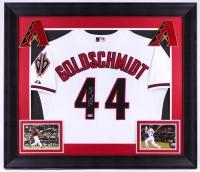 Paul Goldschmidt Signed Diamondbacks 31.5x36.5 Custom Framed Jersey (PSA COA)