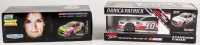 Lot of (2) Danica Patrick LE Platinum Series 1:24 NASCAR Die-Cast Cars with (1) Signed #10 TaxAct 2017 Ford Fusion & (1) #10 GoDaddy 2014 SS Chrome Color (JSA COA)
