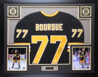 Ray Bourque Signed Boston Bruins 35x43 Custom Framed Jersey (JSA COA)