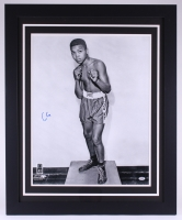 "Cassius Clay ""Muhammad Ali"" Signed 27.5x33.5 Custom Framed Photo (PSA LOA - Autograph Graded 10)"