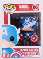"Stan Lee Signed ""Captain America"" Marvel POP! Vinyl Figure (Lee Hologram & Radtke COA)"