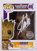 "Stan Lee Signed Groot ""Guardians Of The Galaxy"" Marvel POP! Vinyl Figure (Lee Hologram & Radtke COA)"