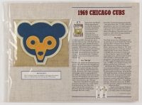Official Cooperstown Collection 1969 Chicago Cubs Patch Card with 9x12 Stat Card at PristineAuction.com