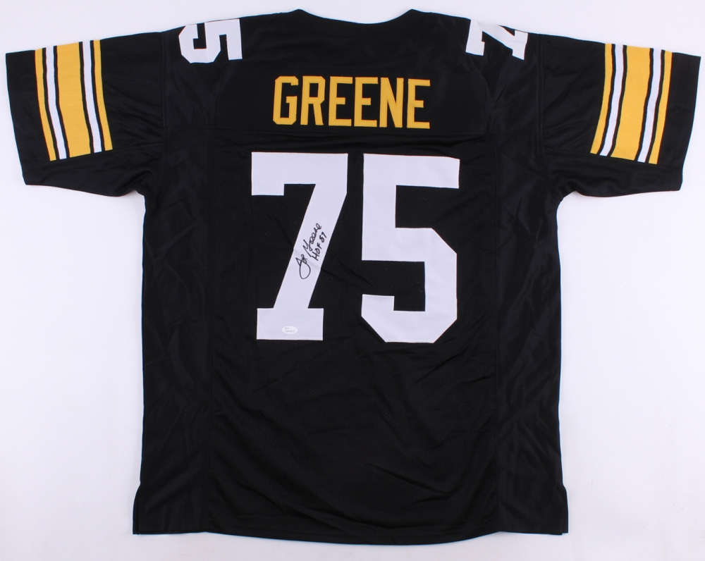 a0bfd5703 Joe Greene Signed Steelers Jersey Inscribed
