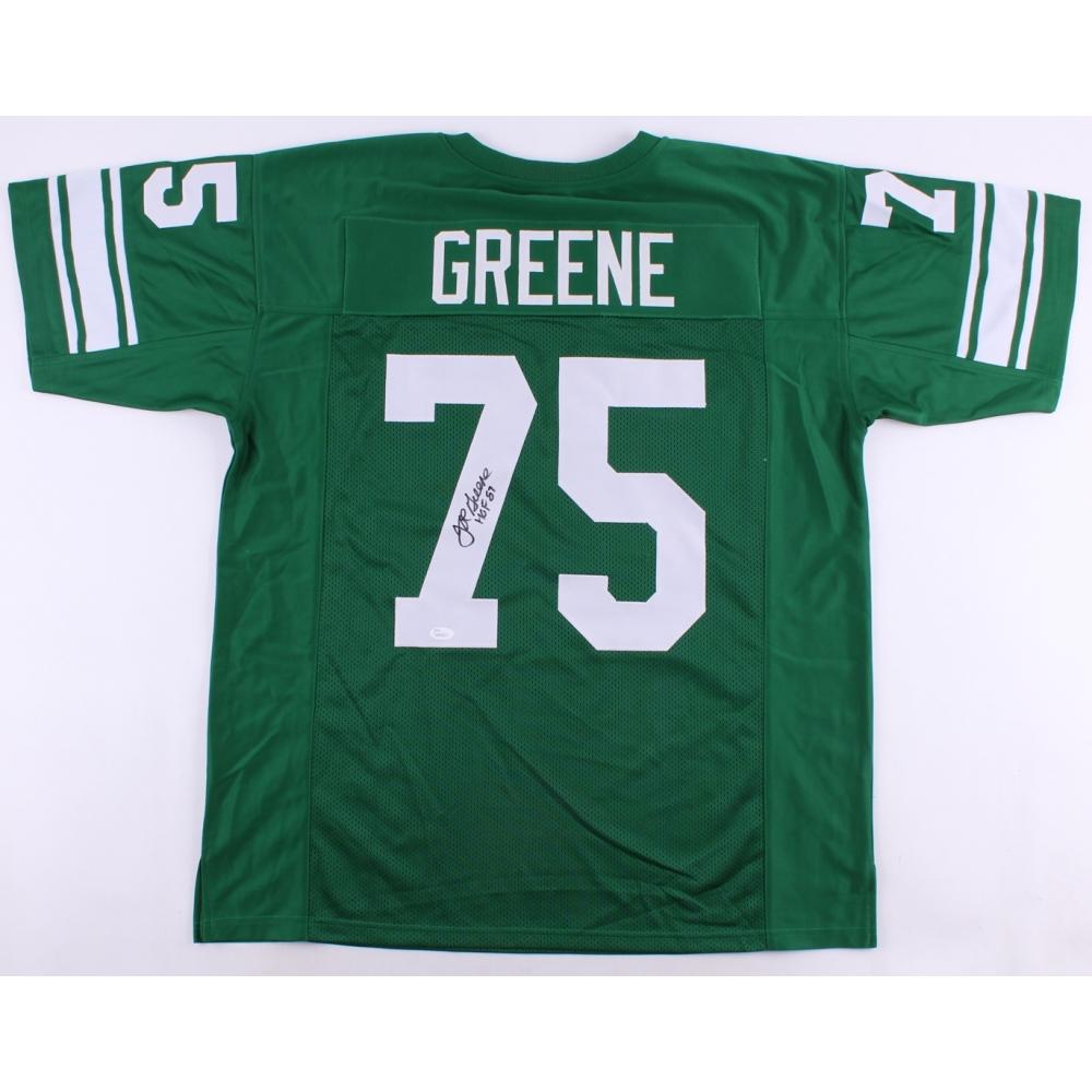 Joe Greene Signed North Texas Mean Green Jersey Inscribed