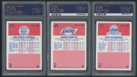 1986-87 Fleer Basketball Complete Set of (132) Cards Plus (11) Stickers with (20) PSA Graded Including #57 Michael Jordan RC (PSA 7), Stickers #8 Michael Jordan (PSA 7) at PristineAuction.com