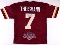 Joe Theismann Signed Redskins Career Highlight Stat Jersey (PSA COA)