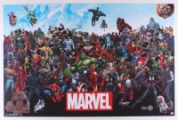 "Stan Lee Signed ""Marvel's Universe"" 23x34 Poster (Radtke & Lee Hologram)"
