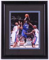 Michael Jordan Signed Wizards 12.5x15.5 Custom Framed Photo Display (UDA COA) at PristineAuction.com