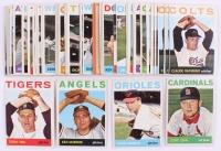 Lot of (46) 1964 Topps Baseball Cards with #405 Ken McBride, #497 Jeoff Long, #450 Steve Barber, #387 Terry Fox