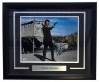 Clint Eastwood Signed 11x14 Custom Framed Photo Display (PSA LOA)