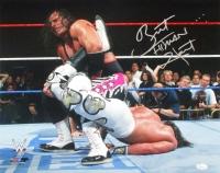 "Bret ""Hitman"" Hart Signed WrestleMania XII 16x20 Photo vs Shawn Michaels (JSA COA)"