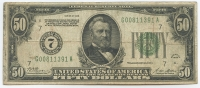 1928 $50 Fifty Dollar U.S. Federal Reserve Note