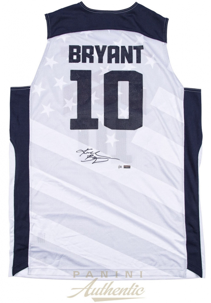 883bac21783 CLICK TO ENLARGE. Kobe Bryant Signed Nike Team USA Jersey (Panini COA) at  PristineAuction.com