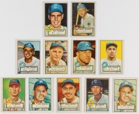 Lot of (10) 1952 Topps Baseball Cards with #228 Al Brazle, #224 Bruce Edwards, #231 Sam Zoldak, #226 Dave Philley, #210 Dick Fowler, #211 Ray Coleman